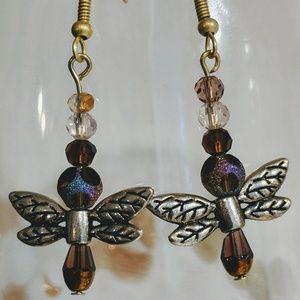 Adorable dragon fly earrings